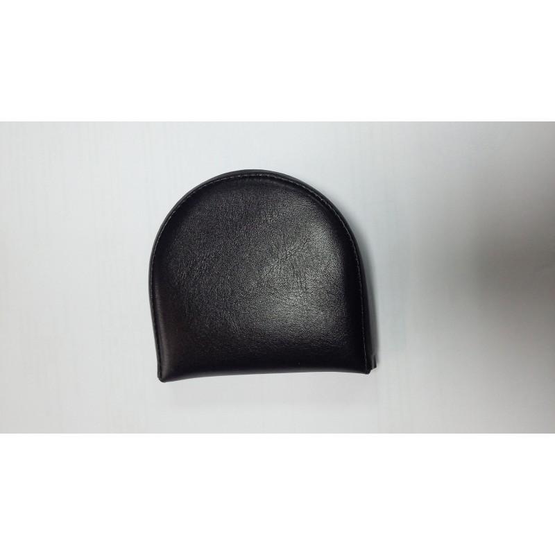 Монетница TERGAN черная в виде подковы из натуральной кожи S1BP00001618  - фото 1